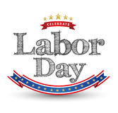 Celebrate Labor day card Royalty Free Stock Image