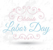 Celebrate Labor day card Royalty Free Stock Images
