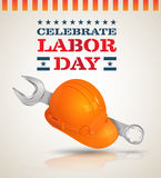 Celebrate Labor day poster. Royalty Free Stock Images