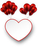 Celebrate love background with red balloons. Stock Image