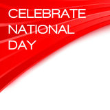 Celebrate National day Chinese poster Royalty Free Stock Images