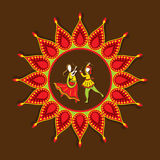 Celebrate navratri festival design Royalty Free Stock Photography