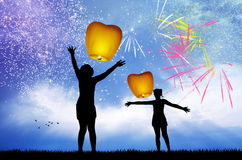 Celebrate the New Year Royalty Free Stock Image