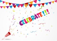 Celebrate out of party popper Royalty Free Stock Photography