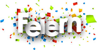 Celebrate paper banner. Stock Photography