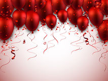 Celebrate red background with balloons Royalty Free Stock Photo