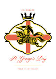 Celebrate St. George Day Proud to Be English Retro Poster Royalty Free Stock Images