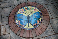 Celebrate. A Stepping stone in the storybook gardens Royalty Free Stock Images