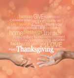 Celebrate Thanksgiving Together stock image