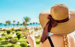 Celebrate while traveling. Summer photo. Selective focus stock photography