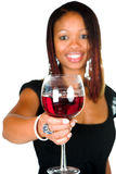 Celebrate with wine Stock Photography