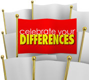 Celebrate Your Differences One Unique Flag Stand Out Unique Prid Royalty Free Stock Photography