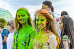 Celebrated as a festival of colors Stock Photography