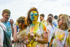 Celebrated as a festival of colors Royalty Free Stock Images