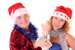 Celebrated at a christmas party Stock Photography