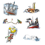 The celebrated explorer in Arctic_1. The celebrated explorer in Arctic Stock Image