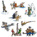 The celebrated explorer in Arctic_2. The celebrated explorer in Arctic Royalty Free Stock Image