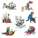 The celebrated explorer in Arctic_5. The celebrated explorer in Arctic Stock Images