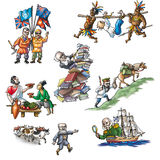The celebrated explorers in Asia_2. The celebrated explorers in Asia Royalty Free Stock Photos