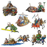 The celebrated explorers in Asia_1. The celebrated explorers in Asia Royalty Free Stock Images
