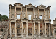 The celebrated library at Ephesus Royalty Free Stock Photography