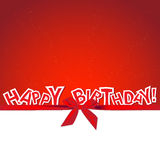 Celebrated red card. With Happy Birthday text Royalty Free Stock Photos