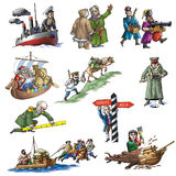 The celebrated Russian explorer Stock Photography