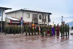 Celebratin Epiphany at Veliko Tarnovo Royalty Free Stock Image