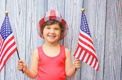 Celebrating 4th of july stock images