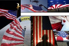 Celebrating the American Flag Stock Photo