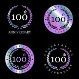 Celebrating anniversary badges with elegent design vector. This Vector EPS 10 illustration is best for print media, web design, application design user Stock Photos