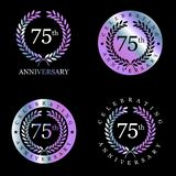 Celebrating anniversary badges with elegent design vector. This Vector EPS 10 illustration is best for print media, web design, application design user stock illustration