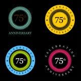 Celebrating anniversary badges with elegent design vector. This Vector EPS 10 illustration is best for print media, web design, application design user royalty free illustration
