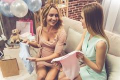 Celebrating baby shower Royalty Free Stock Image