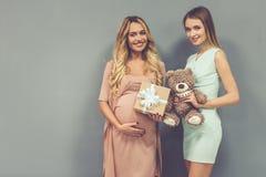 Celebrating baby shower Stock Image