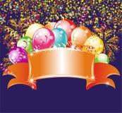 Celebrating billboard. Vector illustration royalty free illustration