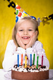 Celebrating birthday Royalty Free Stock Images