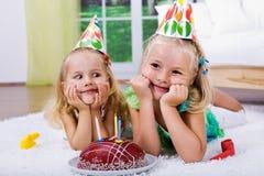 Celebrating birthday Stock Photo