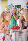 Celebrating birthday Royalty Free Stock Photo
