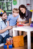 Celebrating  birthday Stock Image