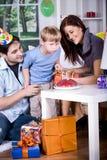 Celebrating  birthday Stock Image