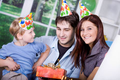 Celebrating  birthday Royalty Free Stock Image