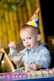Celebrating birthday Royalty Free Stock Photography