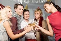 Celebrating birthday royalty free stock photos
