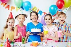 Celebrating birthday Stock Photography
