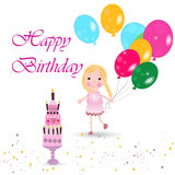 Celebrating birthday party vector Royalty Free Stock Images