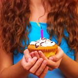Celebrating birthday Stock Images