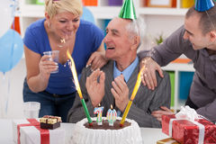Celebrating birthday together Royalty Free Stock Photography