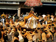Celebrating Bisket Jatra stock images
