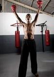 Celebrating boxer Royalty Free Stock Photo